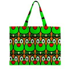 Sitfrog Orange Face Green Frog Copy Zipper Mini Tote Bag