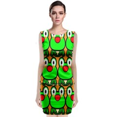 Sitfrog Orange Face Green Frog Copy Classic Sleeveless Midi Dress