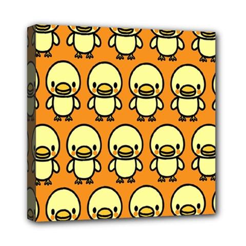 Small Duck Yellow Mini Canvas 8  x 8
