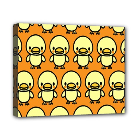 Small Duck Yellow Canvas 10  x 8