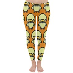 Small Duck Yellow Classic Winter Leggings
