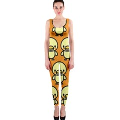 Small Duck Yellow OnePiece Catsuit