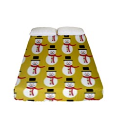 Snowman Green Fitted Sheet (full/ Double Size)