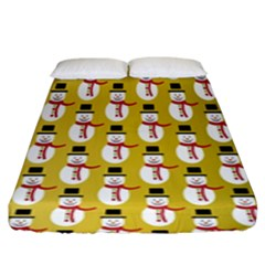 Snowman Green Fitted Sheet (king Size)