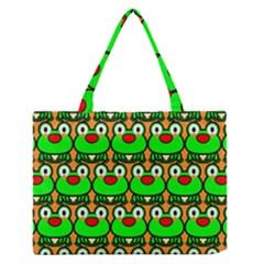 Sitfrog Orange Green Frog Medium Zipper Tote Bag