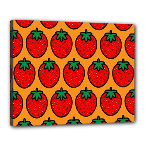 Strawberry Orange Canvas 20  x 16