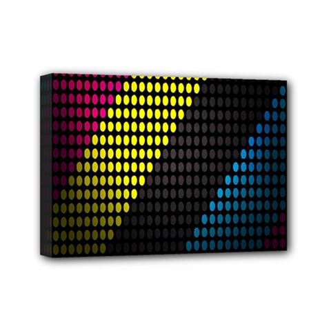 Techno Music Mini Canvas 7  x 5