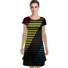 Techno Music Cap Sleeve Nightdress