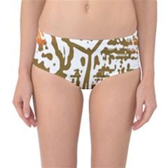 The Dance Mid-Waist Bikini Bottoms