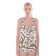 The Dance Boyleg Halter Swimsuit