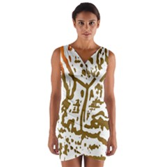 The Dance Wrap Front Bodycon Dress