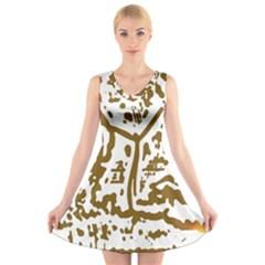 The Dance V-Neck Sleeveless Skater Dress