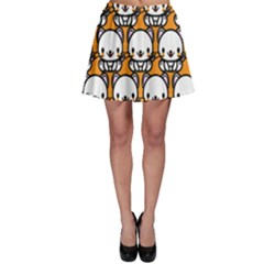 Sitwhite Cat Orange Skater Skirt