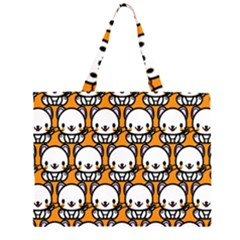 Sitwhite Cat Orange Large Tote Bag