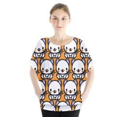Sitwhite Cat Orange Blouse