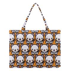 Sitwhite Cat Orange Medium Tote Bag
