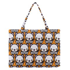 Sitwhite Cat Orange Medium Zipper Tote Bag