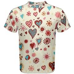 Valentine Heart Pink Love Men s Cotton Tee