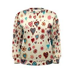 Valentine Heart Pink Love Women s Sweatshirt