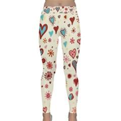 Valentine Heart Pink Love Classic Yoga Leggings