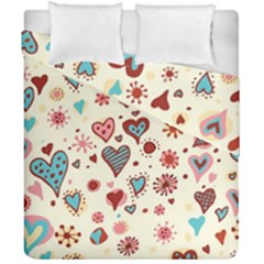 Valentine Heart Pink Love Duvet Cover Double Side (california King Size)