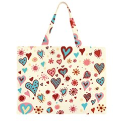 Valentine Heart Pink Love Large Tote Bag