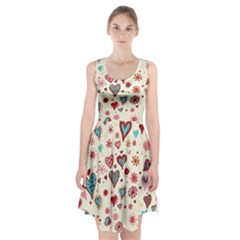 Valentine Heart Pink Love Racerback Midi Dress
