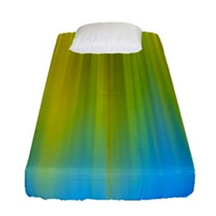 Yellow Blue Green Fitted Sheet (single Size)