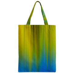 Yellow Blue Green Zipper Classic Tote Bag
