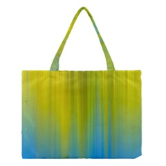Yellow Blue Green Medium Tote Bag