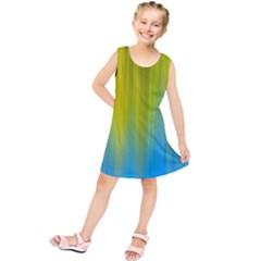 Yellow Blue Green Kids  Tunic Dress