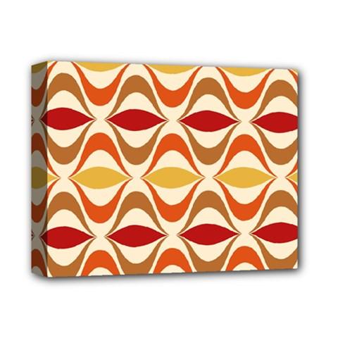 Wave Orange Red Yellow Rainbow Deluxe Canvas 14  x 11