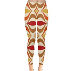 Wave Orange Red Yellow Rainbow Leggings
