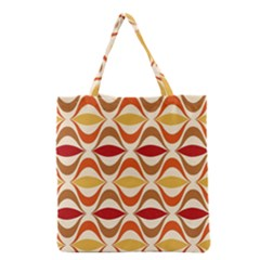 Wave Orange Red Yellow Rainbow Grocery Tote Bag