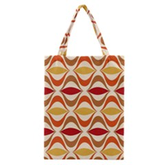 Wave Orange Red Yellow Rainbow Classic Tote Bag