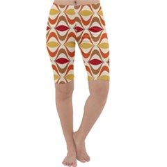 Wave Orange Red Yellow Rainbow Cropped Leggings