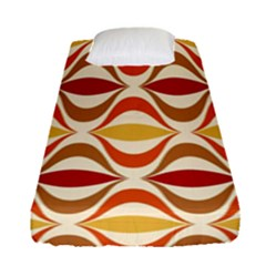 Wave Orange Red Yellow Rainbow Fitted Sheet (Single Size)