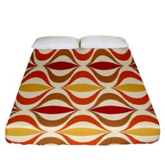 Wave Orange Red Yellow Rainbow Fitted Sheet (California King Size)