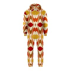 Wave Orange Red Yellow Rainbow Hooded Jumpsuit (Kids)