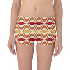 Wave Orange Red Yellow Rainbow Boyleg Bikini Bottoms