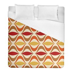Wave Orange Red Yellow Rainbow Duvet Cover (full/ Double Size)