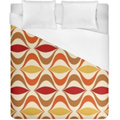 Wave Orange Red Yellow Rainbow Duvet Cover (California King Size)