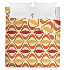 Wave Orange Red Yellow Rainbow Duvet Cover Double Side (Queen Size)