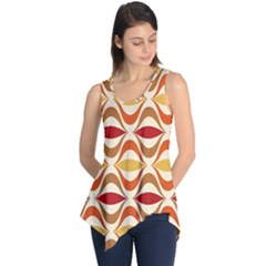Wave Orange Red Yellow Rainbow Sleeveless Tunic