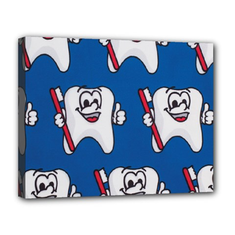 Tooth Canvas 14  x 11