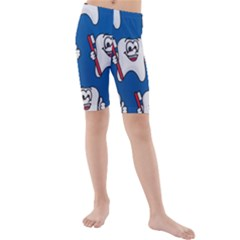 Tooth Kids  Mid Length Swim Shorts