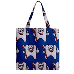 Tooth Zipper Grocery Tote Bag