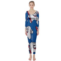 Tooth Long Sleeve Catsuit