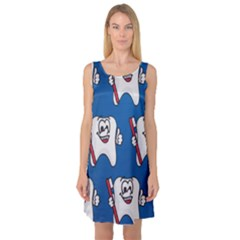 Tooth Sleeveless Satin Nightdress