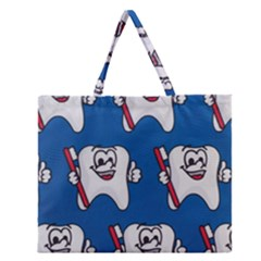 Tooth Zipper Large Tote Bag